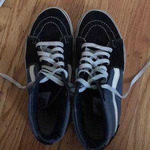 Vans High Top black and Blue Sneakers